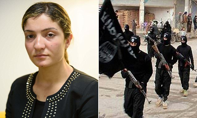 'I deliberately tried to miscarry my baby': Sex slave made pregnant by her ISIS captors reveals her agony after leaving the child behind in her bid for freedom